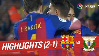 Resumen de FC Barcelona vs CD Leganés (2-1)