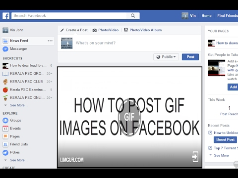 How to post GIF images on facebook ? 2017