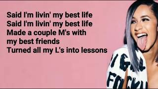 Cardi B - Best Life feat. Chance The Rapper (Lyrics)