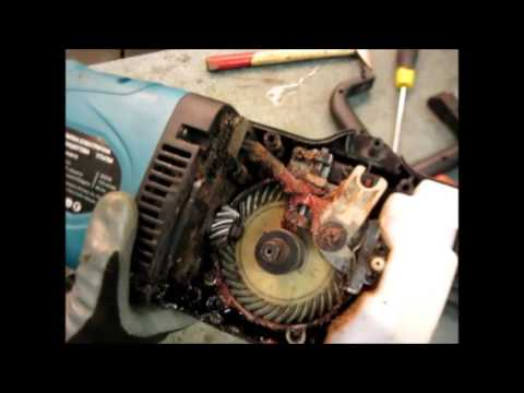 Ремонт Электропилы(ТРЕСК ПРИ РАБОТЕ ). Замена шестерни 2.Repair of the electric saw Gear replacement