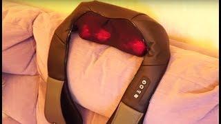 Naipo Shiatsu Style Kneading Massager - 8 Rollers With Optional Heat