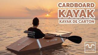 Cardboard Kayak. Kayak de cartón.