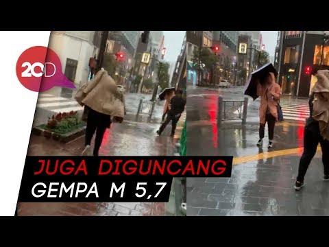 Momen 50 Pegowes Indonesia Disapa Topan Hagibis Jepang