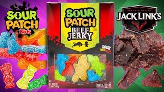 Sour Patch Beef Jerky Taste Test | SNACK SMASH