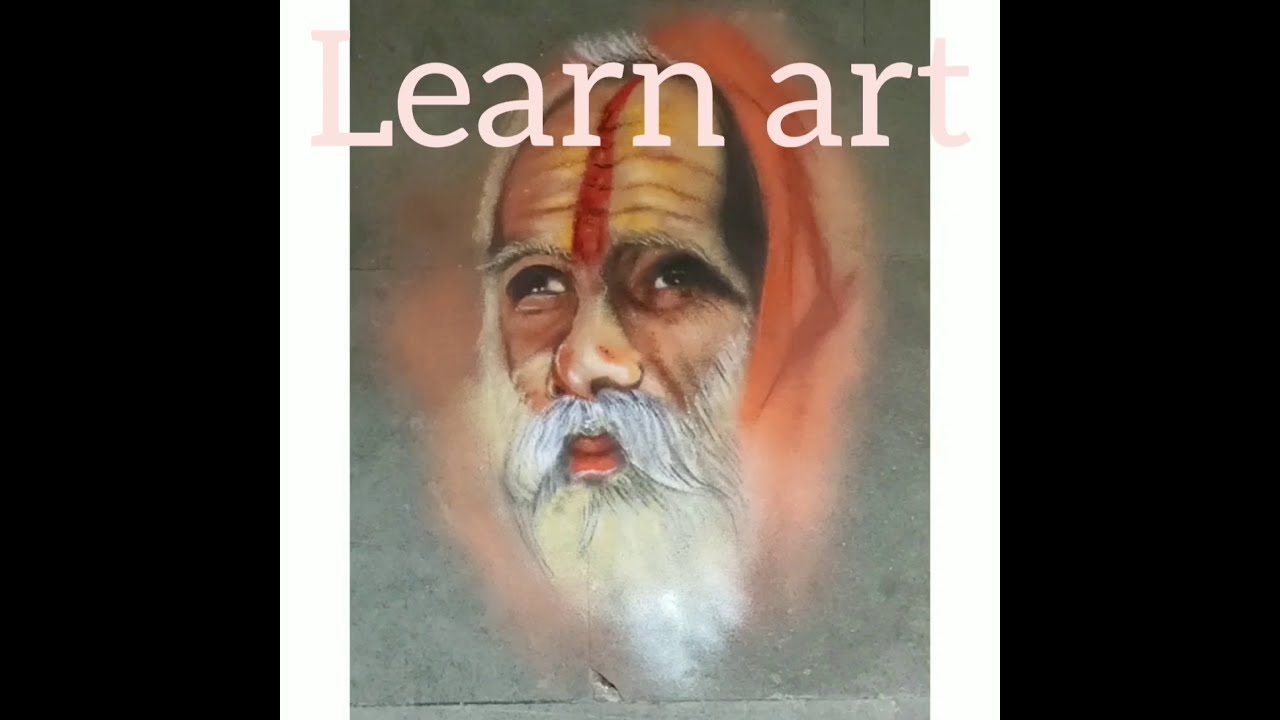 portrait rangoli design step by step instructions by learn art