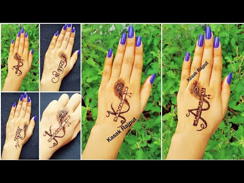 beautiful tattoo style mehndi design by kasak rajput