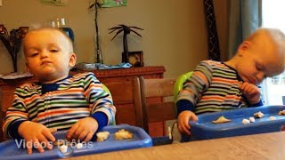 TWIN BABIES Adorable Moments 2 - The FUNNIEST and CUTEST video you