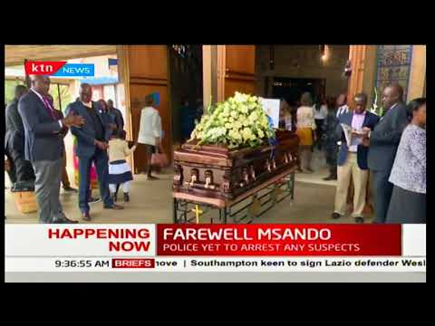 Farewell Chris Msando : Mass for slain IEBC- ICT manager underway