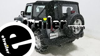 etrailer | Titan Chain Snow Tire Chains with Tensioners Installation - 2016 Jeep Wrangler