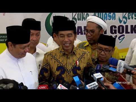 Presiden Jokowi Hadiri Buka Puasa Bersama Partai Golkar, Jakarta, 19 Mei 2019