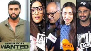 Bollywood Celebrities Review Of India Most Wanted Movie - Sonam Kapoor,Arjun Kapoor,Malaika,Boney