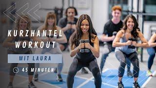 45 Min. Workout mit Kurzhanteln I Ganzkörpertraining I Fitness für Zuhause