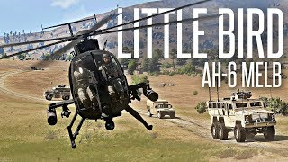 CONVOY SUPPORT WITH A HELICOPTER - ArmA 3 AH-6 Little Bird Operation
