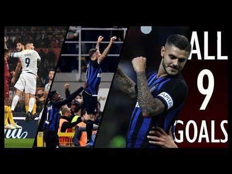 Tutti i Gol di Mauro Icardi nel girone di andata in Seria A • Stagione 2018-19