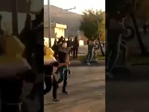 Shooting defenseless protesters from helicopter - Shiraz - Iran