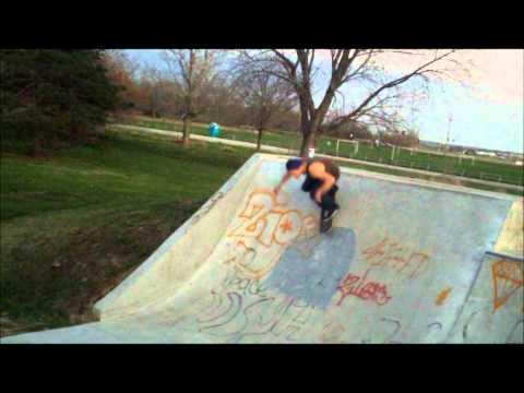 Steven Kane skateboarding at Seymour Smith skatepark in Omaha, Nebraska
