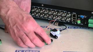 How to Connect a PTZ Camera to a DVR