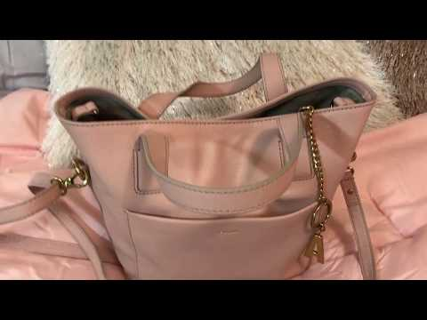 What's in my Fossil Darby Powder Pink Satchel Bag plus Wallets & Review