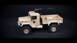 M35-A2 2.4G 4WD Remote Control Military Truck, 720P HD Camera WIFI FPV SUV, 3KG Load, Boy Gift, 2073