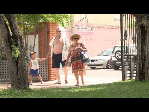 Zorita (Cáceres) sufre la ola de calor de agosto