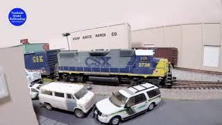 CSX GP-38-2 Switches Industries In Miami Florida, Episode 02, Trackside Model Railroading