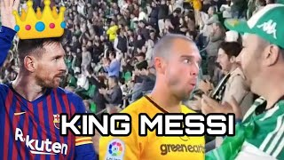 Real Betis Fans Reaction To Messi Goals 4-1 FC Barcelona