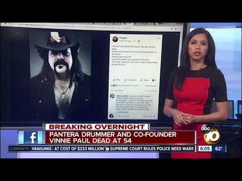 Pantera drummer and co-founder Vinnie Paul dead at 54