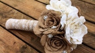 Diy Burlap Wedding Bouquet