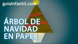 Un árbol de navidad de papel, aprende origami