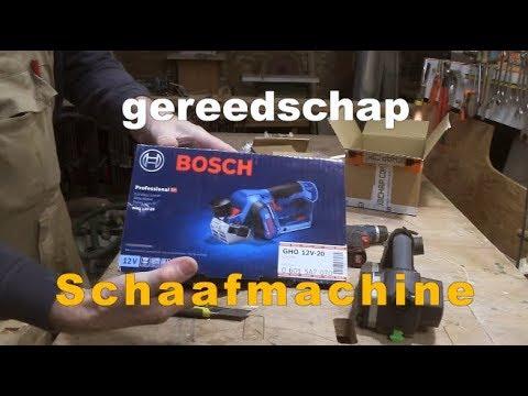 Timmertip 841  Bosch GHO 12V-20  schaafmachine
