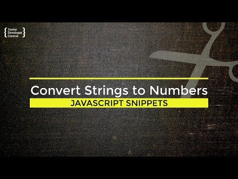 Javascript How To Convert String To Number Tutorial