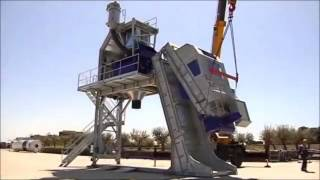 Полу-Мобильный (Быстромонтируемый) бетонный завод F-130 (130 м3/ч) Швеция от компании Строительное Оборудование - видео 2