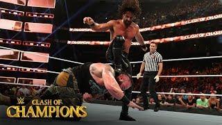 Seth Rollins drills Braun Strowman with three straight Stomps: Clash of Champions 2019 (WWE Network)