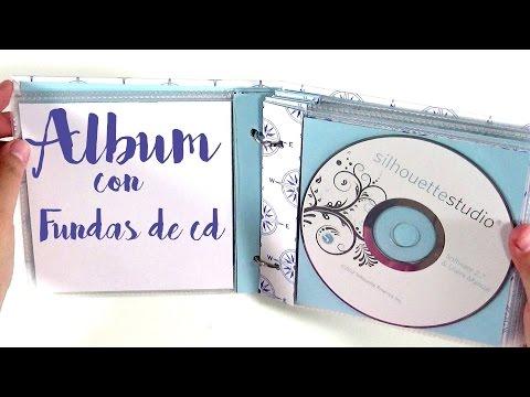 Tutorial: Álbum con fundas de CDs y anillas - Muy fácil y rápido | Scrapbooking |  Mundo@Party