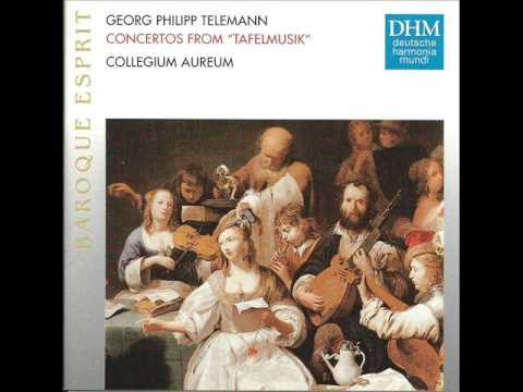 Telemann - Concerto in La maggiore (Tafelmusik) IV: Allegro