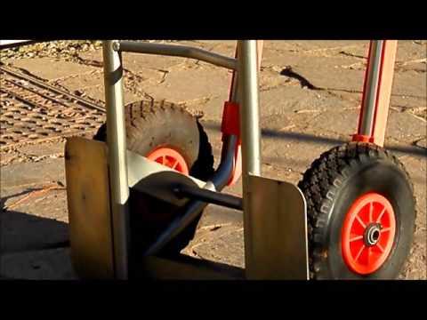 carrello portapacchi con slitta per scale, portata 200 kg galvanizzato