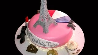 How To Make A Paris Themed Cake With Royal Icing Eiffel Tower