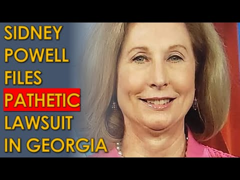 """Sidney Powell Files PATHETIC lawsuit in Georgia """"DISTRCOICT"""" court"""