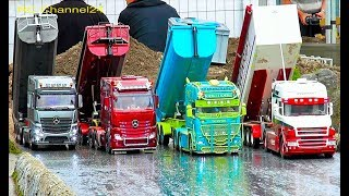 STUNNING RC MODEL CONSTRUCTION SITE ACTION! TRUCKS, EXCAVATOR & TRACTOR ON THE ROADWORKER PARCOURS!