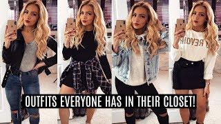 6 SIMPLE OUTFITS EVERYONE HAS IN THEIR CLOSET!