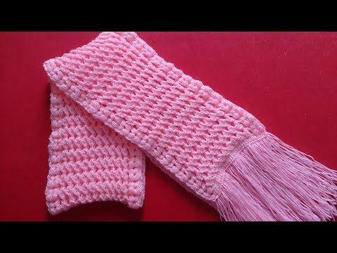 Crochet 3D scarf tutorial (Eng sub) I Hướng dẫn cách móc khăn len họa tiết 3D