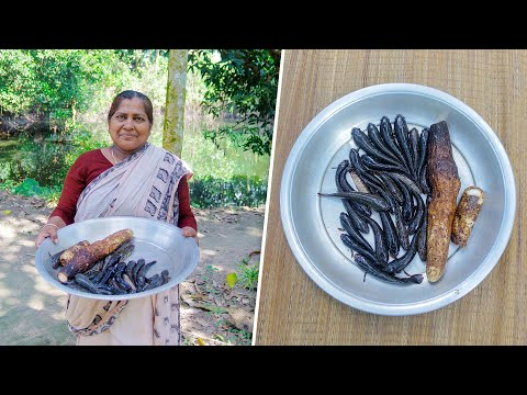 Purple Yam and Fish Village Cooking Recipe by Village Food Life