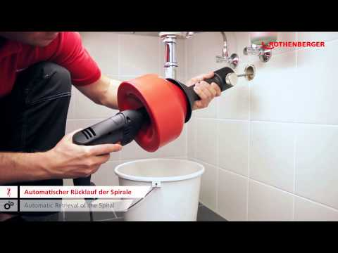 ROSPIMATIC – Rohrreinigungsmaschine / Pipe and drain cleaning machine