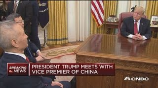 US president Trump vs Mr. Liu He