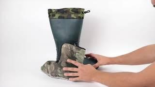 Мужские сапоги оптом с чулком СЭ-01 зеленые от компании Sapatos - видео