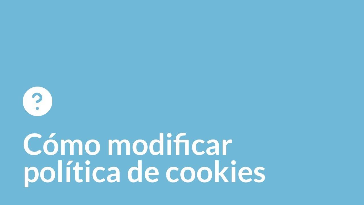 Cómo personalizar el aviso de cookies