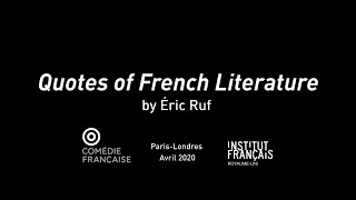 Quotes Of French Literature By Eric Ruf