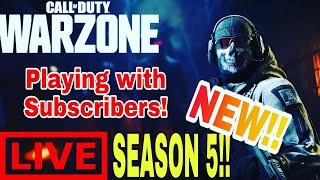 COD WARZONE LIVE SEASON 5! PRO WARZONE PLAYER! CARRYING ALL NEW SUB! + GIVEAWAY AT 3.5K SUBS!!!!!!