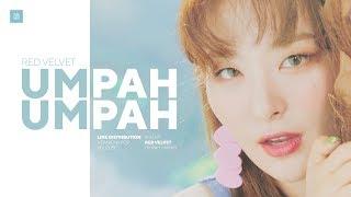 Red Velvet   Umpah Umpah Line Distribution (Color Coded)   레드벨벳   음파음파
