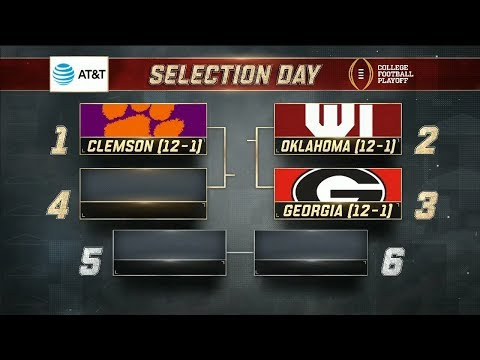The top four teams in the College Football Playoff are revealed | ESPN